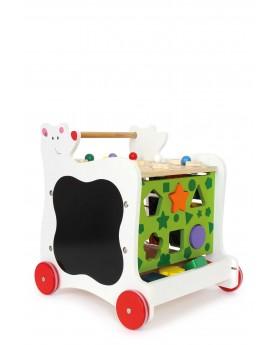 Cube d'activités sur roulettes «Ours» Chariots de marche  –Serpent à Lunettes