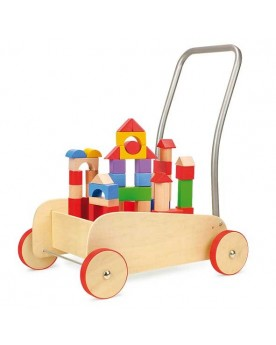 """Chariot de marche avec frein \\""""Cubes de construction\\"""" Chariots de marche  –Serpent à Lunettes"""