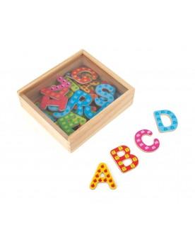 Lettres de l'alphabet magnétiques colorées Lire, écrire, compter  –Serpent à Lunettes