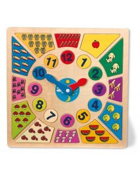 Horloge éducative «Couleurs» Tableaux éducatifs  –Serpent à Lunettes