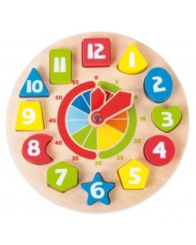"""Horloge éducative \\""""Formes\\"""" Tableaux éducatifs  –Serpent à Lunettes"""