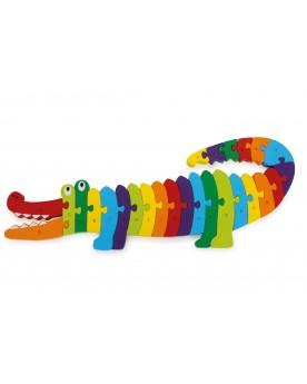Puzzle Crocodile «Alphabet» Puzzles  –Serpent à Lunettes