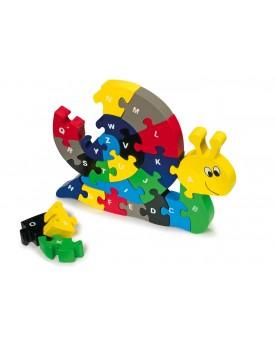 """Puzzle \\""""ABC escargot\\"""" Puzzles  –Serpent à Lunettes"""