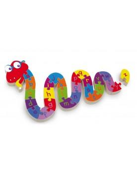 """Puzzle \\""""ABC serpent\\"""" Puzzles  –Serpent à Lunettes"""
