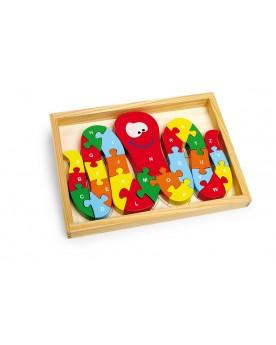 """Puzzle \\""""ABC pieuvre\\"""" Puzzles  –Serpent à Lunettes"""