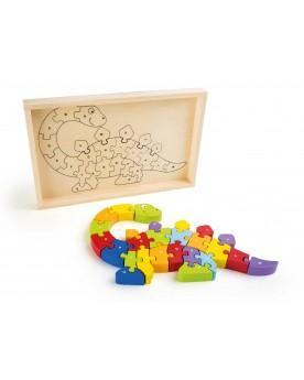 Puzzle ABC «Dinosaure» Puzzles  –Serpent à Lunettes