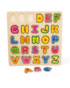"""Puzzle en bois \\""""Alphabet\\"""" Puzzles  –Serpent à Lunettes"""