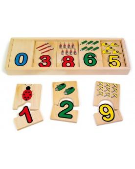 Apprentissage des chiffres Puzzles  –Serpent à Lunettes
