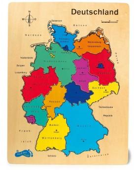 """Puzzle en bois \\""""Allemagne\\"""" Puzzles  –Serpent à Lunettes"""