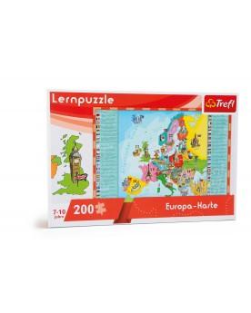 Puzzle d'apprentissage «Carte de l'Europe» Puzzles  –Serpent à Lunettes