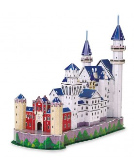 """Puzzle 3D \\""""Château Neuschwanstein\\"""" Puzzles  –Serpent à Lunettes"""