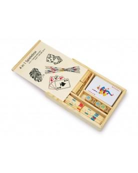 Boîte de jeux 4 en 1 Pour 2 et plus  –Serpent à Lunettes