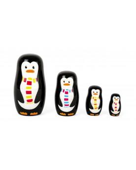 Poupées russes Famille de pingouins Poupées russes  –Serpent à Lunettes