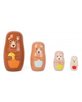 Poupées russes Famille d'ours Poupées russes  –Serpent à Lunettes