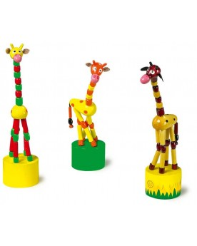 Animaux poussoir «Girafe» Jouets de motricité  –Serpent à Lunettes