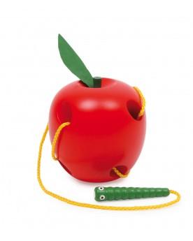Pomme à enfiler Jeux à enfiler  –Serpent à Lunettes
