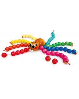 Araignée à enfiler Jeux à enfiler  –Serpent à Lunettes