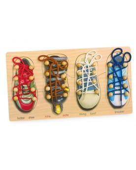 Lacer ses chaussures Jeux à enfiler  –Serpent à Lunettes