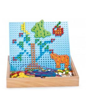 Puzzle à emboîter et enfiler Jeux à enfiler  –Serpent à Lunettes