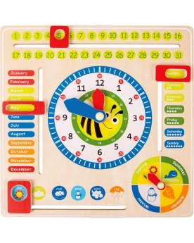 Tableau éducatif date, heure et saisons en anglais Tableaux éducatifs  –Serpent à Lunettes