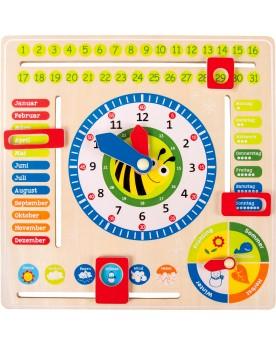 Tableau éducatif Date, heure et saisons, en allemand Tableaux éducatifs  –Serpent à Lunettes