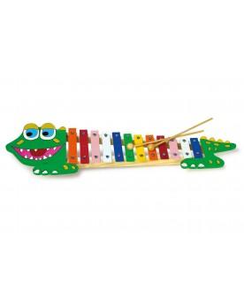 Xylophone «Crocodile» Instruments de musique  –Serpent à Lunettes