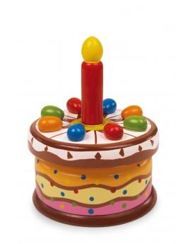 Boîte à musique «Gâteau d'anniversaire» Boîtes à musique  –Serpent à Lunettes