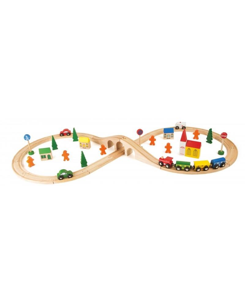 Chemin de fer «En huit» Circuits et véhicules  –Serpent à Lunettes