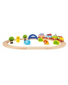 Chemin de fer en bois Mon zoo  Circuits et véhicules  –Serpent à Lunettes