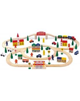 Chemin de fer en bois, «Grand format» Circuits et véhicules  –Serpent à Lunettes