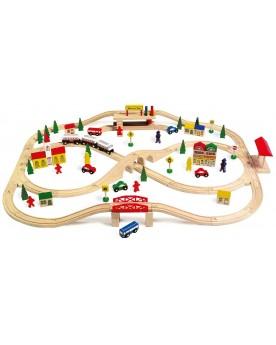Chemin de fer «Voie ferrée surélevée» Circuits et véhicules  –Serpent à Lunettes