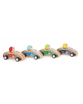 Voitures de courses colorées Circuits et véhicules  –Serpent à Lunettes