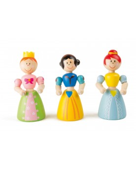 """Figurines \\""""Princesse\\"""" en bois Chevaliers et Princesses  –Serpent à Lunettes"""