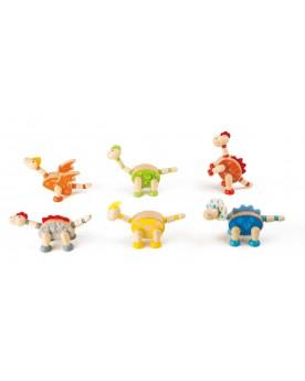 """Figurines \\""""Dinosaures\\"""" en bois Animaux  –Serpent à Lunettes"""