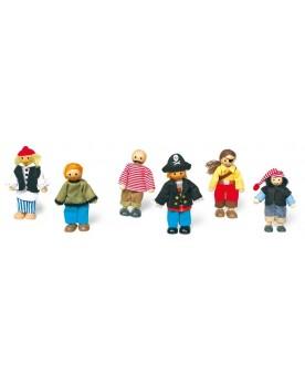 Petites poupées «Pirates» Pirates, indiens et autres  –Serpent à Lunettes
