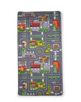Tapis de jeu «Recto-verso» Circuits et véhicules  –Serpent à Lunettes