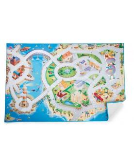 Matelas «Jouer sur une île» Tapis de jeu  –Serpent à Lunettes