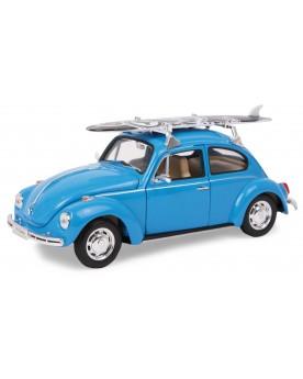 Voiture miniature VW Beetle + planche de surf Circuits et véhicules  –Serpent à Lunettes