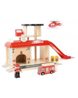 Caserne de pompiers et ses accessoires Pompiers, policiers et autres  –Serpent à Lunettes