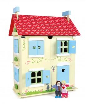 Maison de poupée avec toit amovible  Poupées  –Serpent à Lunettes