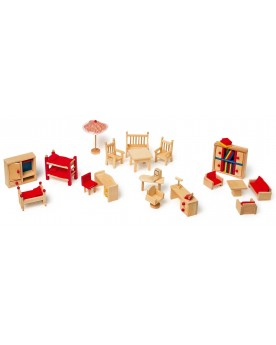 Meubles de poupée avec salon de jardin Poupées  –Serpent à Lunettes