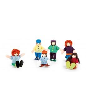 Petites poupées souples «6 amis» Poupées  –Serpent à Lunettes