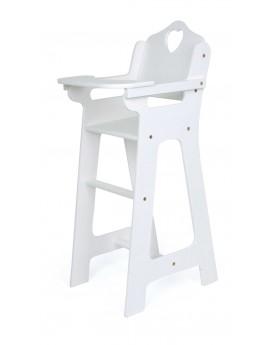 Chaise haute pour poupée, blanche Poupées  –Serpent à Lunettes
