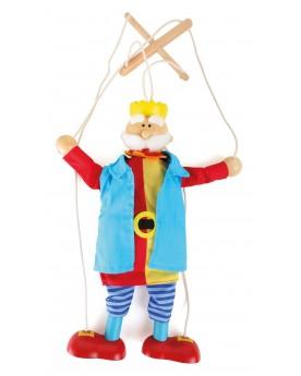 """Marionnette \\""""Roi\\"""" Pantins, marionnettes et théâtre  –Serpent à Lunettes"""