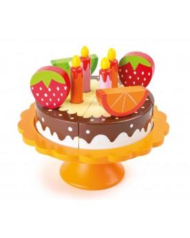Gâteau d´anniversaire en bois Le goûter  –Serpent à Lunettes