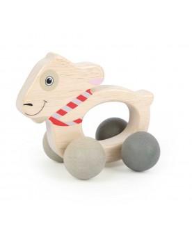 """Jouet d'éveil \\""""Ludwig\\"""" sur roulettes Jouets de motricité  –Serpent à Lunettes"""