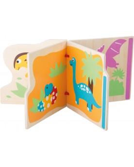 """Livre en bois """"Mes premiers dinosaures"""" Lire, écrire, compter  –Serpent à Lunettes"""
