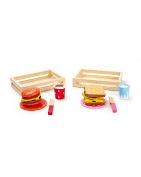 Hamburger et sandwich Déjeuner et pique-nique  –Serpent à Lunettes