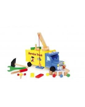 """Camion \\""""Service Truck\\"""" Atelier de bricolage  –Serpent à Lunettes"""
