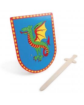 """Bouclier & épée \\""""Dragon\\"""" Costumes et déguisements  –Serpent à Lunettes"""